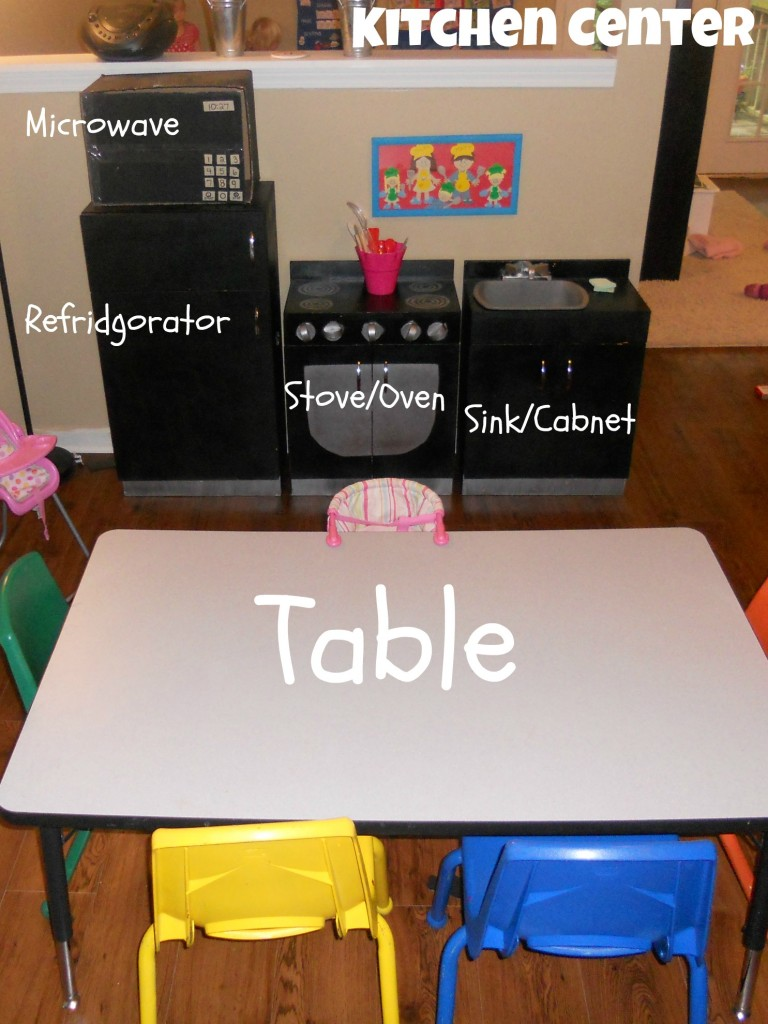 Preschool Kitchen Furniture 5 Days Of Organizing Kids Toys Into Centers Dramatic Play As
