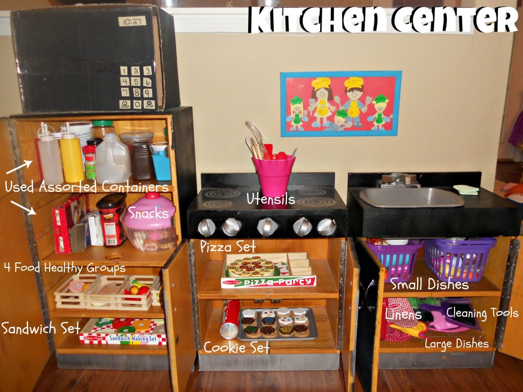 Home snack center - 5 Days Of Organizing Kids Toys Into Centers Dramatic Play As Jules Is Going