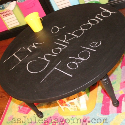 chalkboard play {train, lego, whatever} table