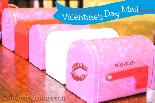 how-to personalize Valentine's Day Mailboxes