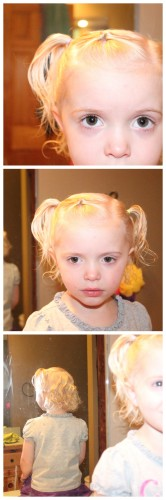 Growing Out Bangs on Little Girls Hair- Curly Style