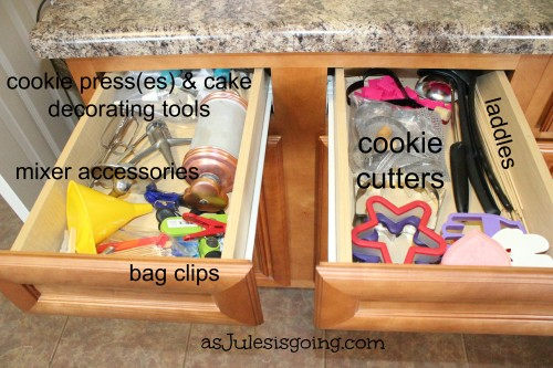 Baking & Rarely Used Items Drawers Organization