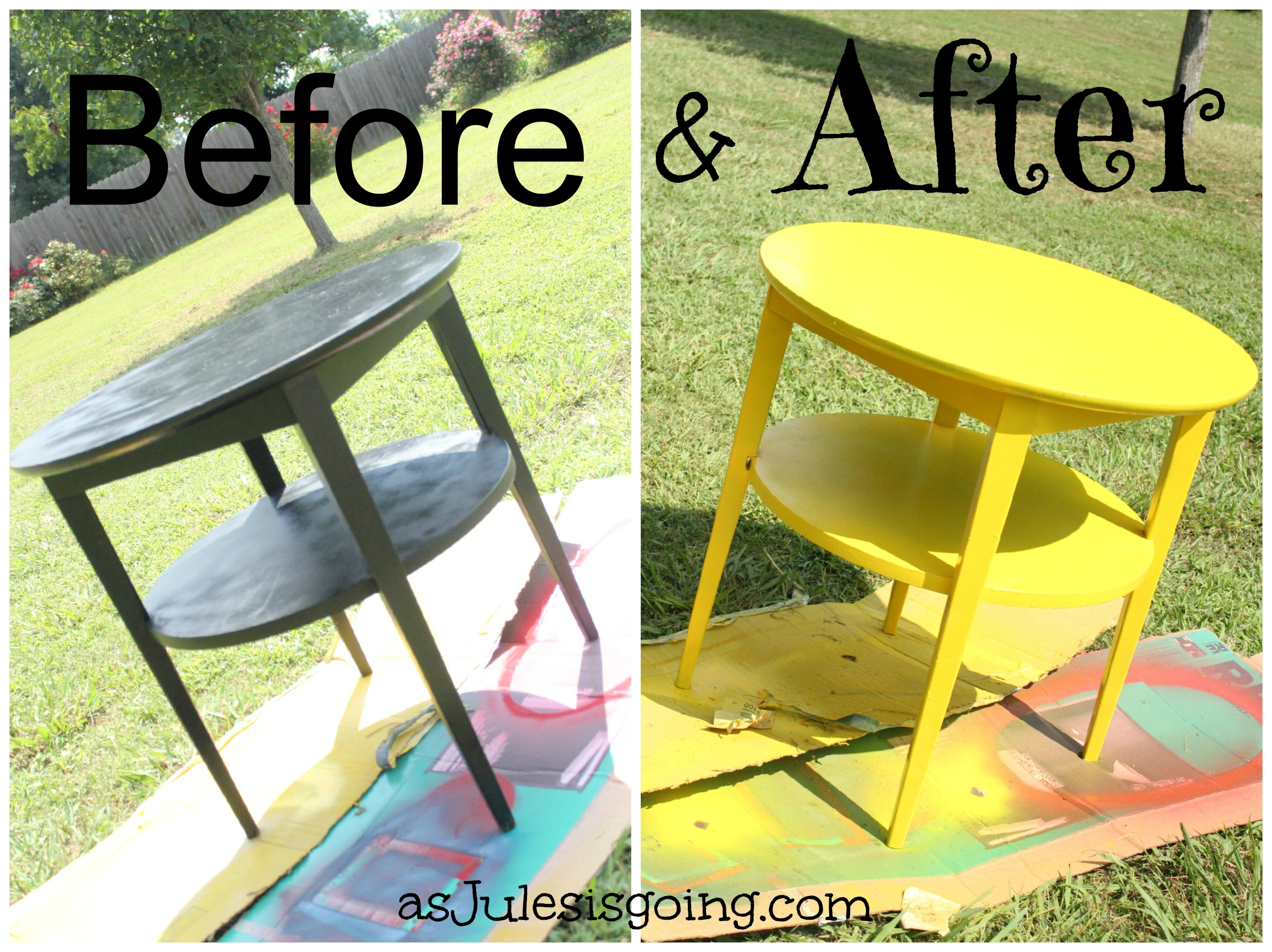 End Tables Red Before And After End Tables Yellow Before And After