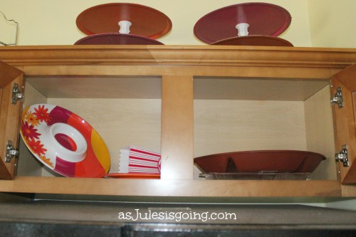 Plastice Rarely Used Serving Dishes Cabinet