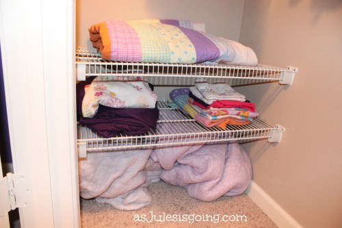 The Girls' Room Linen Shelving