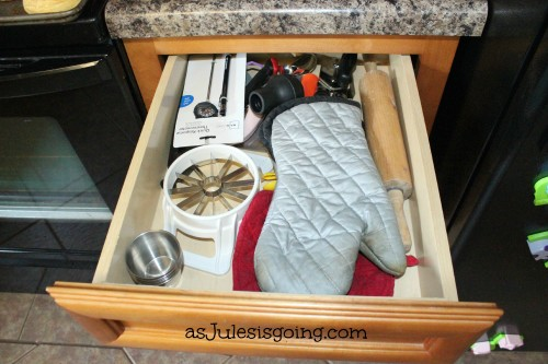 Used Less Often Utensils Drawer