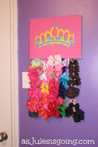 how to make a princess bow hanger