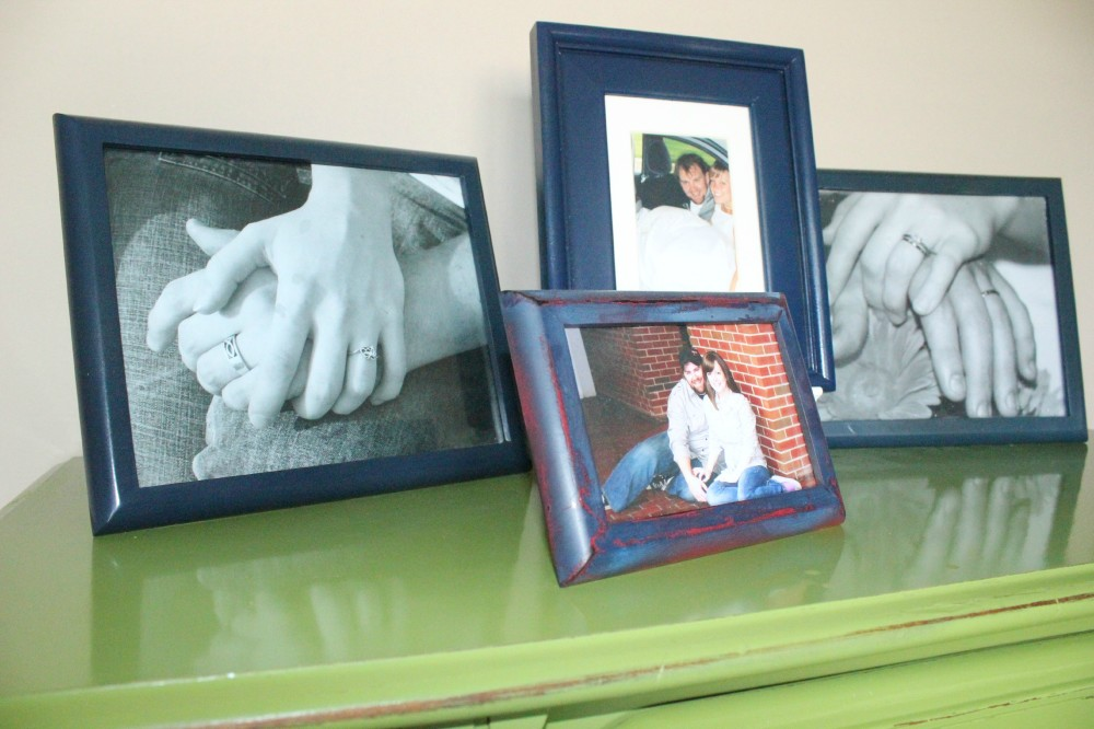 spray painted picture frames