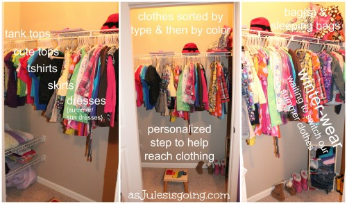 the girls' room closet