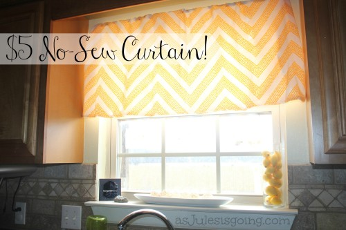 $5 No-Sew Curtain