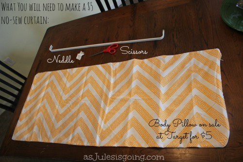 What you'll need to make a $5 no-sew curtain