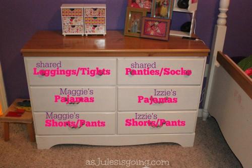 girls' dresser