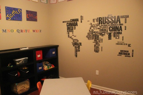 New World Map in our School Room