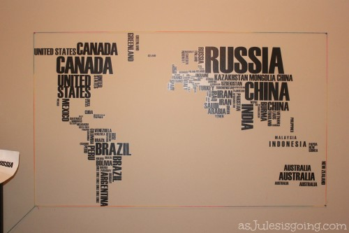 how-to adhere the world map decals