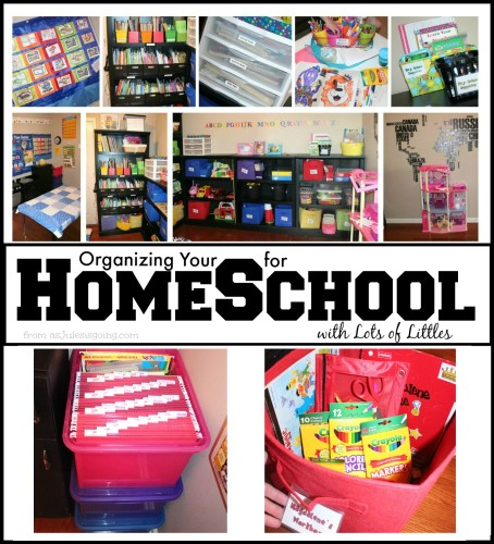 Organizing you home for homeschooling with lots of littles - How to organize your desk at home for school ...