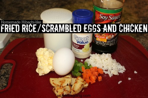 Homemade Hibachi-like Fried RiceScrambled Eggs and Chicken Recipe