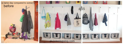 mudroom-like before and after