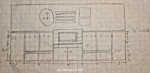 the original sketch for the Great-Wall transformation