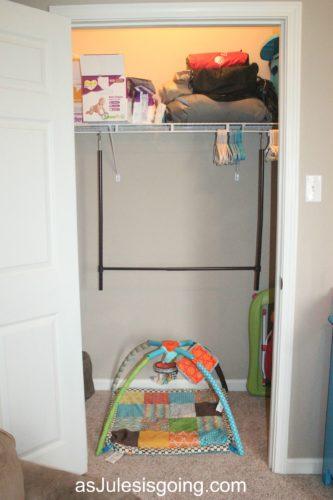 guest closet hanging bar