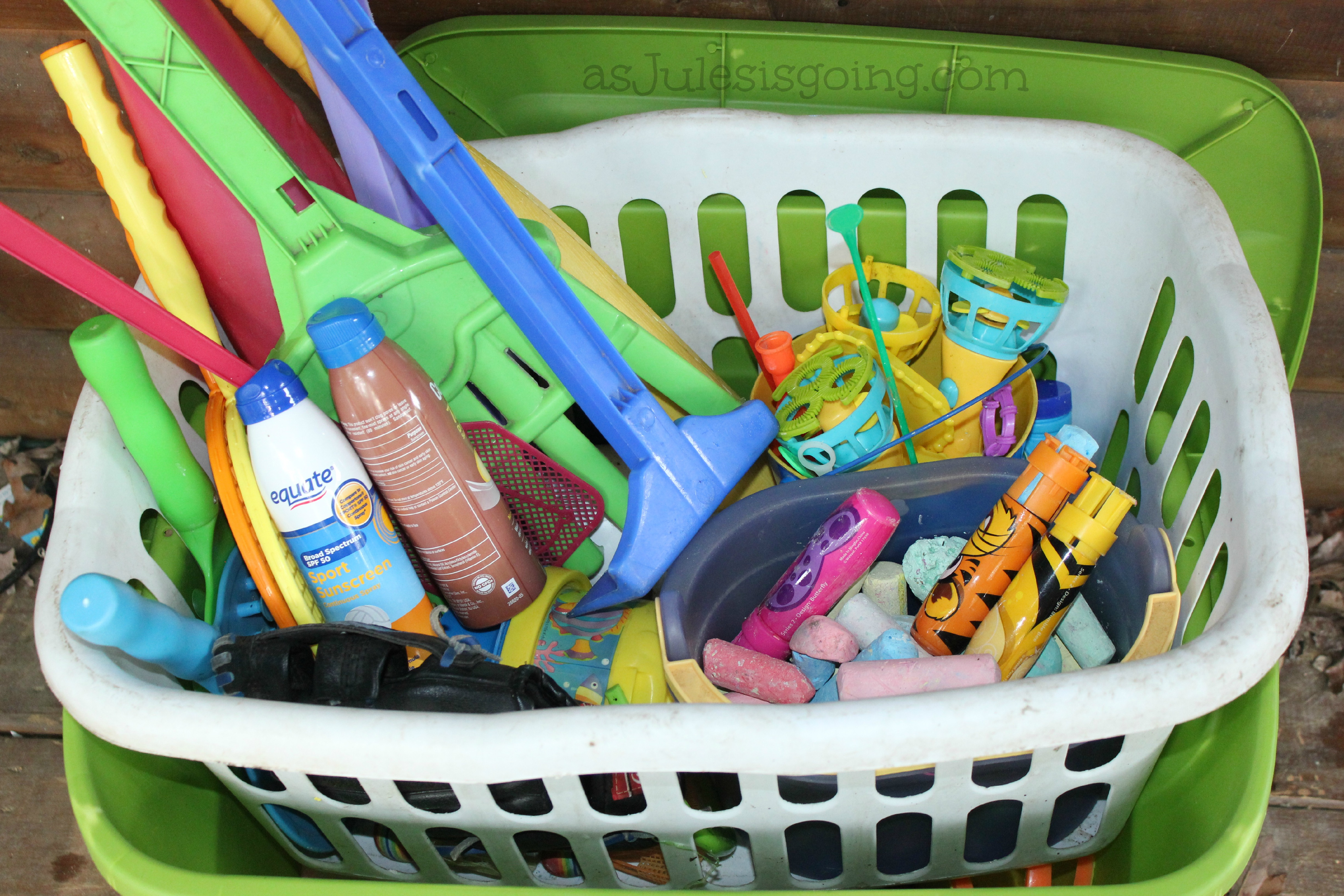 Outdoor Toy Box Contents